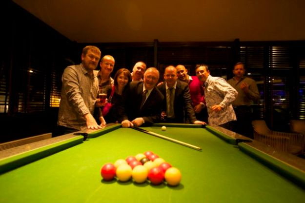 Quick game of pool with Dennis Taylor, 1985 Wold Snooker Champion. Wold Class performer...