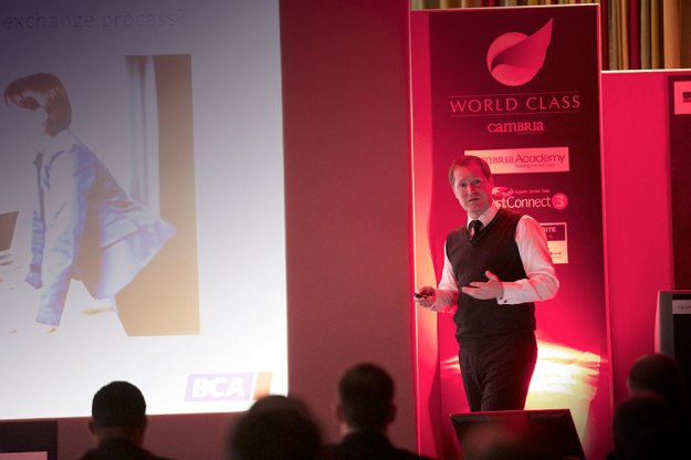 Guy Thomas from BCA Group presenting...