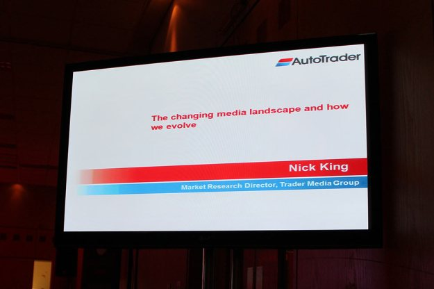 Fantastic presentation from Nick KIng today, AutoTrader's Market Research Director